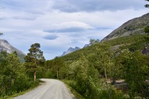 Mountain road in the Skjomen valley